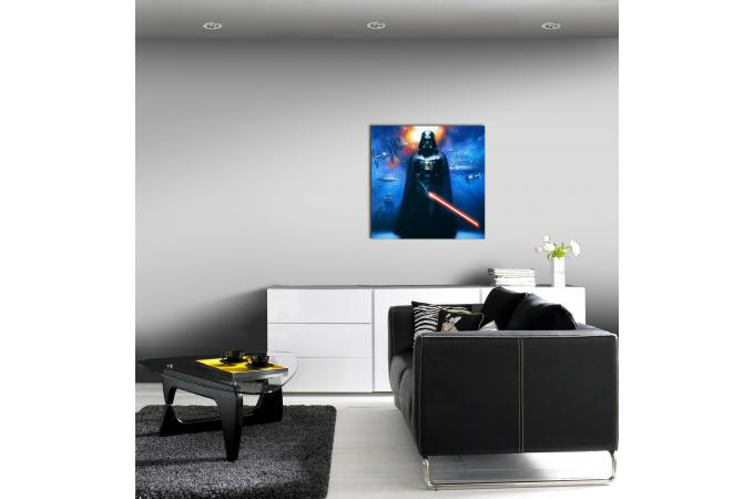tableau impression sur verre star wars 70x70 tableau enfant pas cher. Black Bedroom Furniture Sets. Home Design Ideas