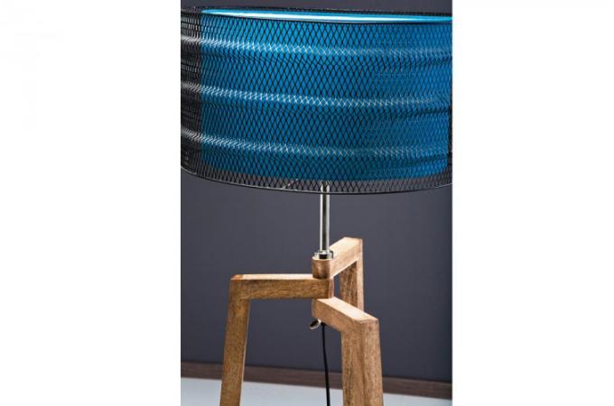 lampadaire en bois et m tal pas cher. Black Bedroom Furniture Sets. Home Design Ideas