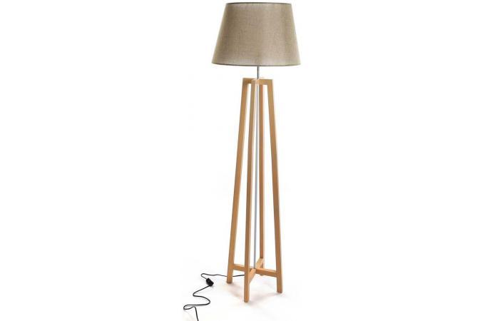 lampadaire scandinave bois et blanc galma lampe poser. Black Bedroom Furniture Sets. Home Design Ideas