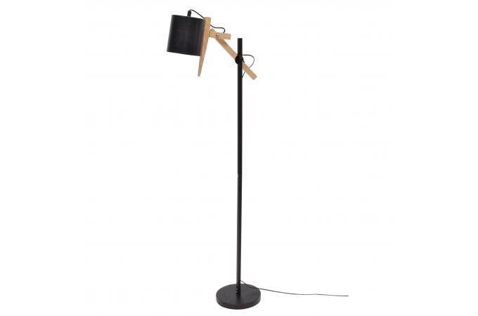 lampadaire scandinave bois et m tal noir dimitri lampadaire pas cher. Black Bedroom Furniture Sets. Home Design Ideas