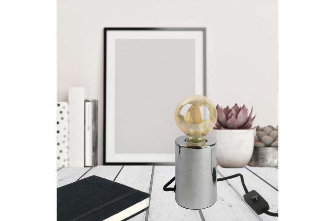 À Métallisé Poser Argent Soleiman Lampe Cylindre Pas CoBedWrx
