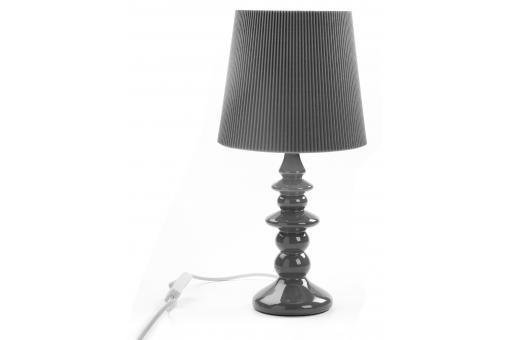 Lampe poser en c ramique grise lola lampe for Lampe a poser grise