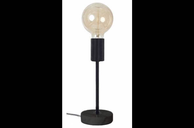 Lampe A Poser Noire Socle En Marbre Noir Peter Plus D Infos