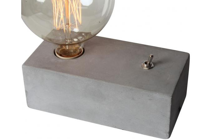 lampe a poser en b ton eureka lampe poser pas cher. Black Bedroom Furniture Sets. Home Design Ideas