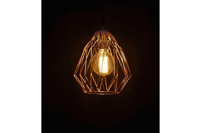 lampe abat jour filaire cuivre oxted suspension pas cher. Black Bedroom Furniture Sets. Home Design Ideas
