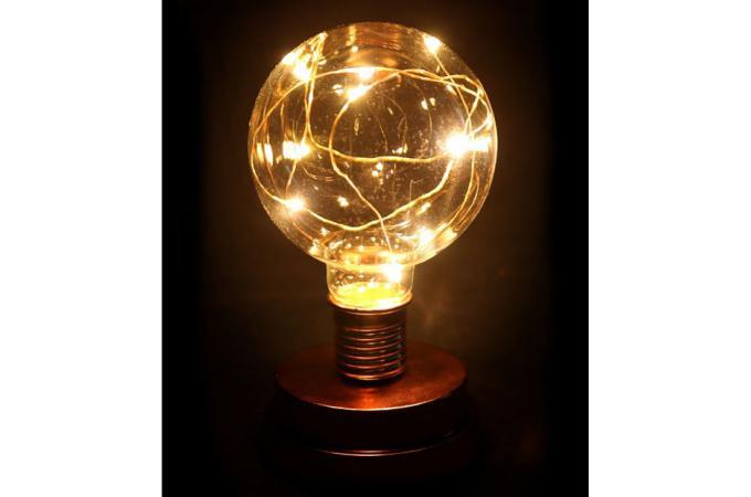 Bien-aimé Lampe Ampoule Cuivre Métal H19 BULBY - Lampe à Poser Pas Cher QL77