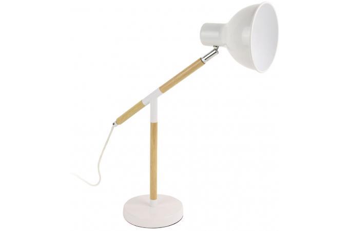 Bois Plus Blanc Prunille Lampe D'infos Coloris Et H48cm En Métal iXPukZ