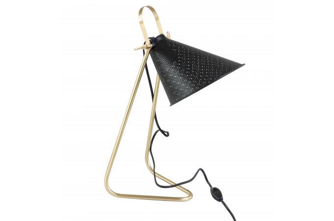 Lampe de bureau métal noir or vohibinany lampe à poser pas cher