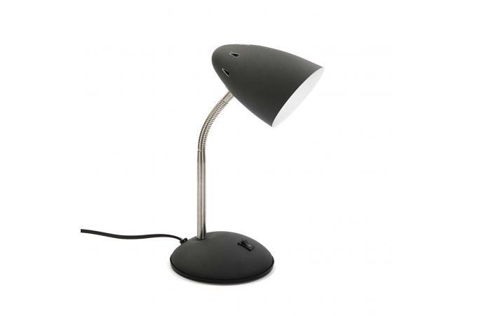 Lampe de bureau noir angelica lampe à poser pas cher