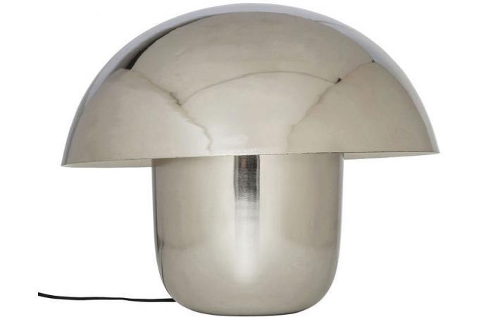 lampe de table kare design champignon chrom velkoz lampe poser pas cher. Black Bedroom Furniture Sets. Home Design Ideas