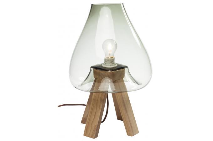 lampe de table eternity gris clair lampe poser pas cher. Black Bedroom Furniture Sets. Home Design Ideas