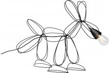 Lampe De Table Noire DOG WIRE - Lampe design