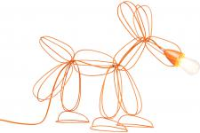 Lampe De Table Orange DOG WIRE - Lampe orange design