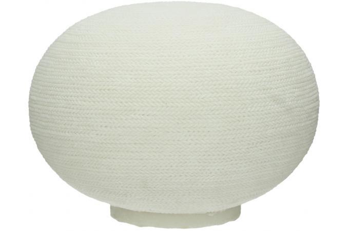 lampe de table ovale pomax en pierre de sel blanche d31 bewarm lampe poser pas cher. Black Bedroom Furniture Sets. Home Design Ideas