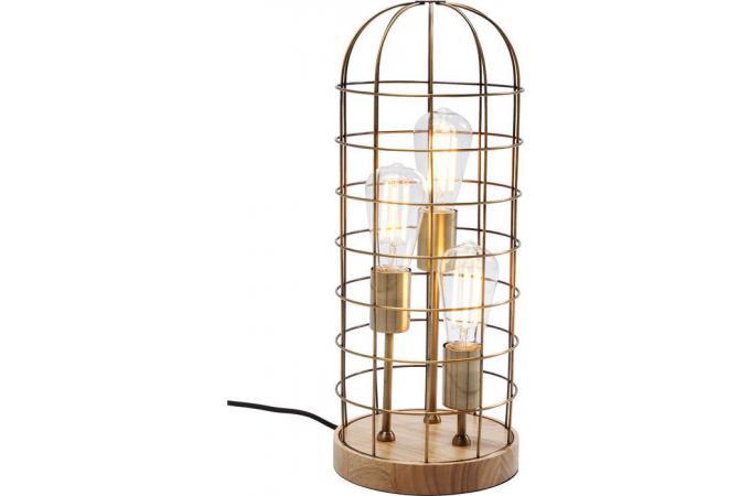 D'infos Lampe Kare Doré Plus Ampoules Filaire 3 Biggy Design thrdsQ