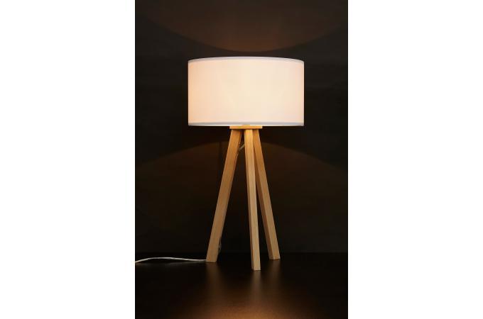 Lampe scandinave abat jour blanc tornby lampe poser - Abat jour scandinave ...