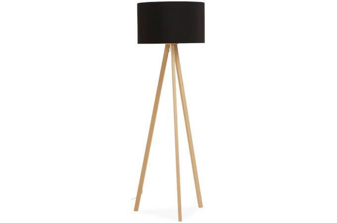lampadaire tr pied noire pi tement bois clair trivaga. Black Bedroom Furniture Sets. Home Design Ideas