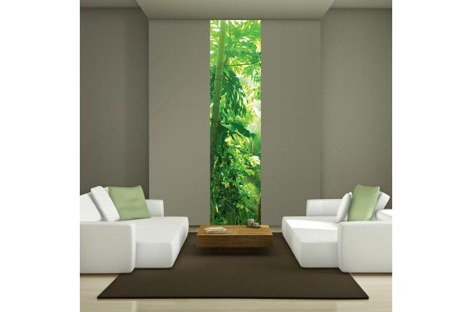 Papier peint d co jungle 50x250 papier peint zen pas cher for Decoration murale jungle
