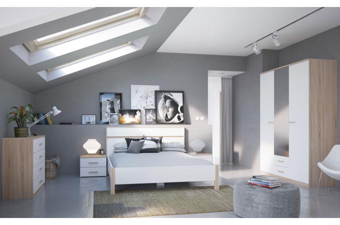 lit 140x190 ch ne yolanda lit ensemble literie pas cher. Black Bedroom Furniture Sets. Home Design Ideas
