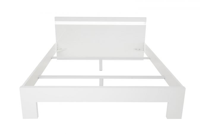 lit 160x200 blanc peppers lit design pas cher. Black Bedroom Furniture Sets. Home Design Ideas