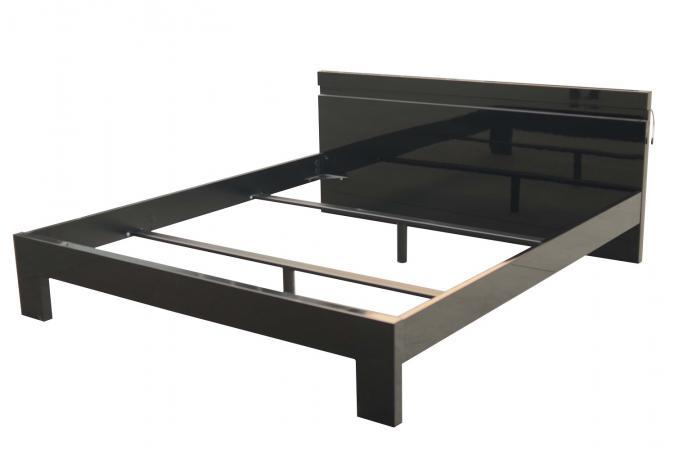 lit 180x200 noir peppers lit design pas cher. Black Bedroom Furniture Sets. Home Design Ideas