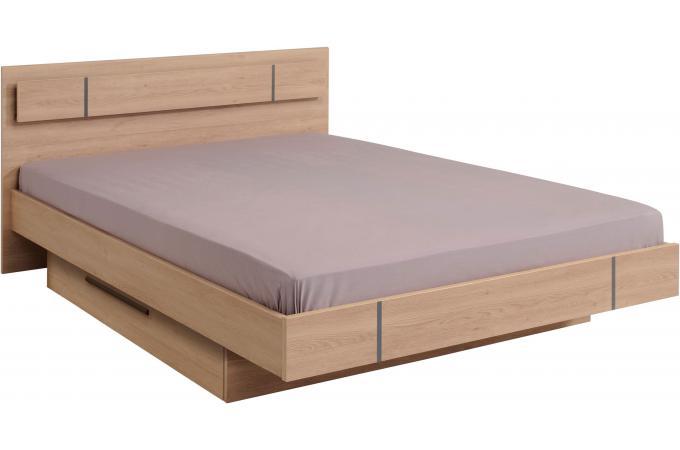 Lit ch ne avec tiroir 160x200 keziah lit design pas cher - Lit 160x200 avec tiroir ...