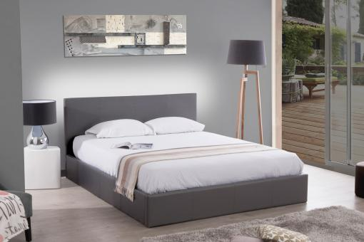 Lit Coffre 140x190 Gris ANTHOLOGY