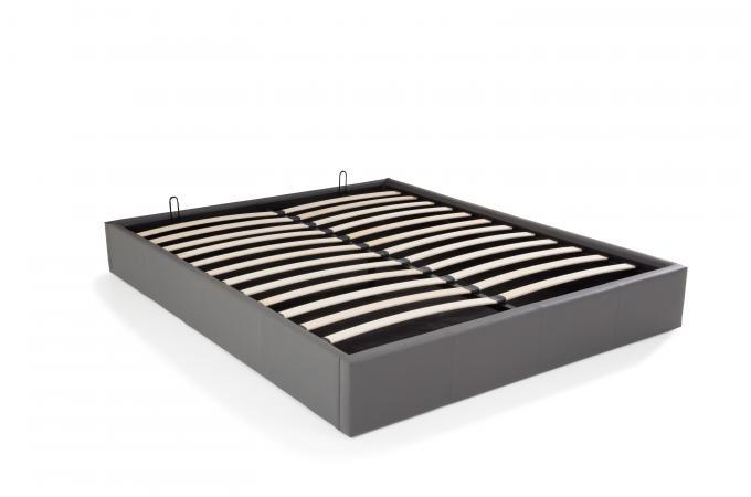 lit coffre 140x190 gris mapala lit design pas cher. Black Bedroom Furniture Sets. Home Design Ideas