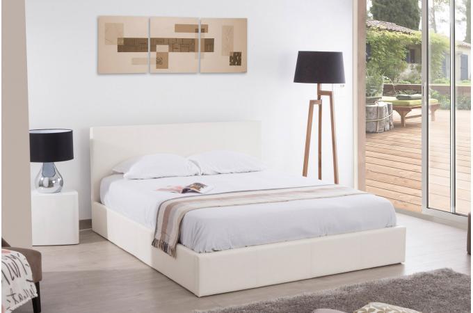 Lit coffre 160x200 blanc anthology lit design pas cher - Lit coffre pas cher 160x200 ...