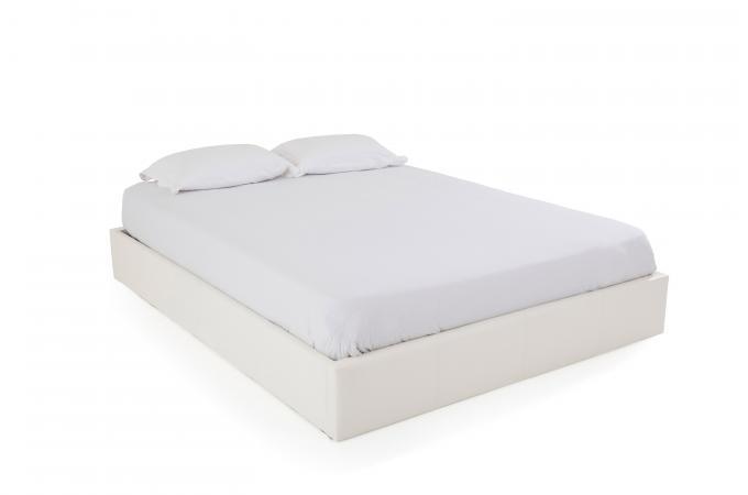 lit coffre 160x200 blanc mapala lit design pas cher. Black Bedroom Furniture Sets. Home Design Ideas