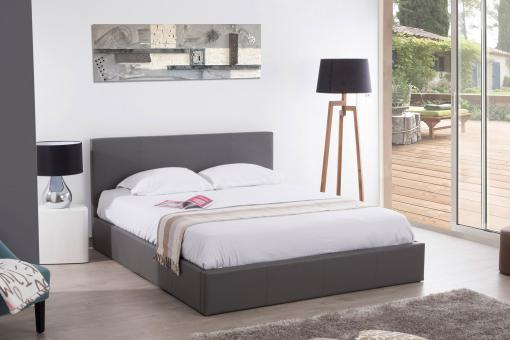 Lit Coffre 180x200 Gris ANTHOLOGY