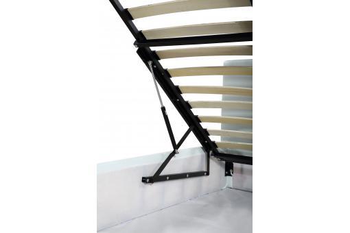 lit coffre capitonn avec sommier blanc 140x190 elyni lit design pas cher. Black Bedroom Furniture Sets. Home Design Ideas