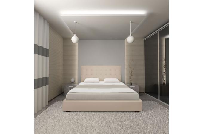 lit coffre et sommier 180cm beige lit design pas cher. Black Bedroom Furniture Sets. Home Design Ideas