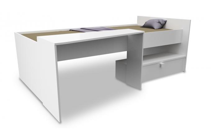 lit combin bureau 90x200 belota lit enfant pas cher. Black Bedroom Furniture Sets. Home Design Ideas