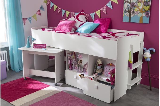 Lit combin pour enfant 90x200cm avec bureau et rangement - Compte facily pay ...
