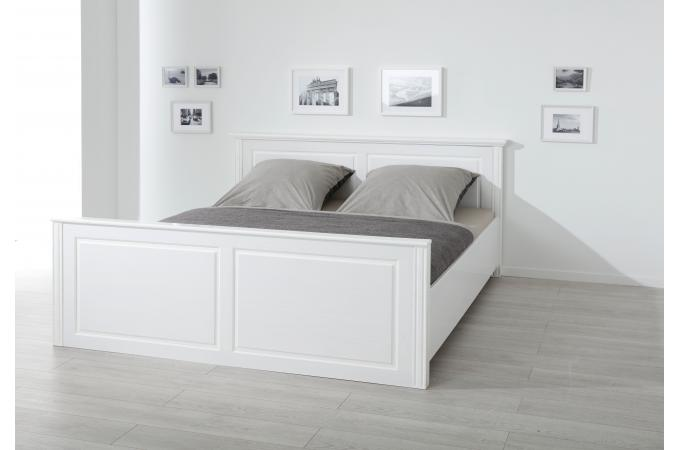 lit en bois blanc 160x200 paco lit design pas cher. Black Bedroom Furniture Sets. Home Design Ideas