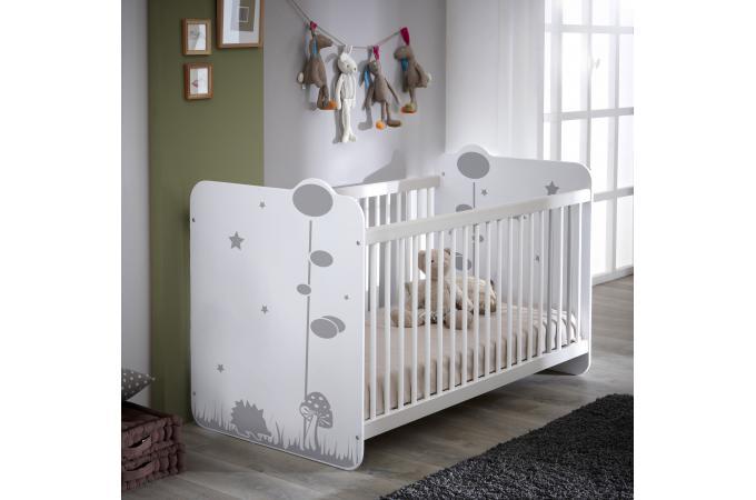 lit enfants blanc avec barreaux de protection bosquet lit enfant pas cher. Black Bedroom Furniture Sets. Home Design Ideas