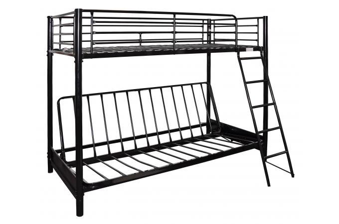 lit mezzanine 90 avec clic clac noir l syt me mezzi lit. Black Bedroom Furniture Sets. Home Design Ideas