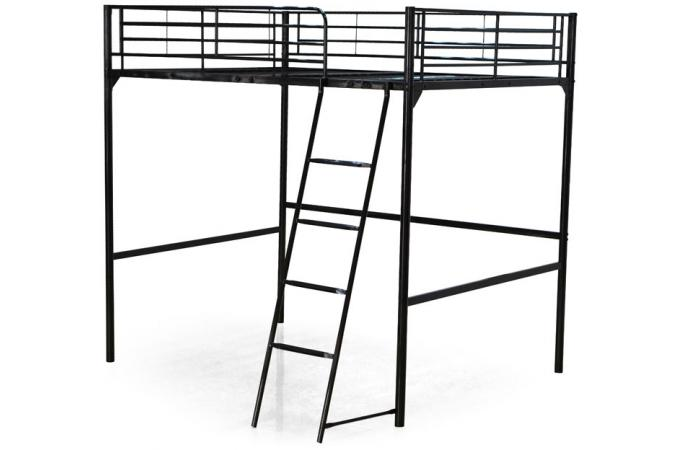 lit mezzanine noir 140x190 olive lit design pas cher. Black Bedroom Furniture Sets. Home Design Ideas