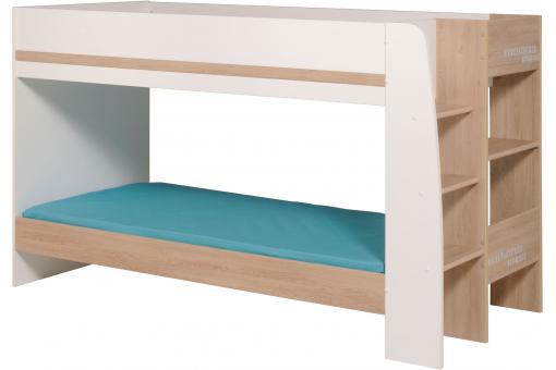 lits superpos s bois et blanc kiora lit enfant pas cher. Black Bedroom Furniture Sets. Home Design Ideas