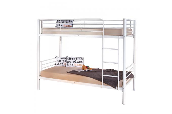 lits superpos s en m tal blanc 90x200 edward lit enfant pas cher. Black Bedroom Furniture Sets. Home Design Ideas