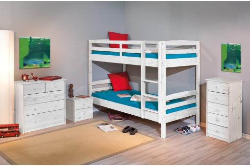 lits superpos s s parable blanc 90x190 mick lit enfant. Black Bedroom Furniture Sets. Home Design Ideas