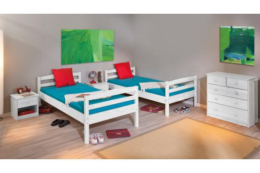 lits superpos s s parable blanc 90x190 mick lit enfant pas cher. Black Bedroom Furniture Sets. Home Design Ideas