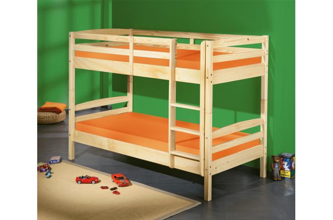 lits superpos s s parable bois 90x190 mick lit enfant pas cher. Black Bedroom Furniture Sets. Home Design Ideas