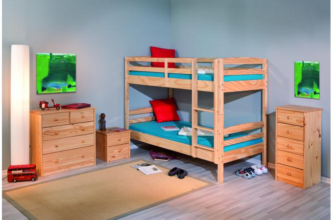 lits superpos s s parable bois 90x190 mick lit enfant pas cher. Black Bedroom Furniture Sets. Home Design Ideas