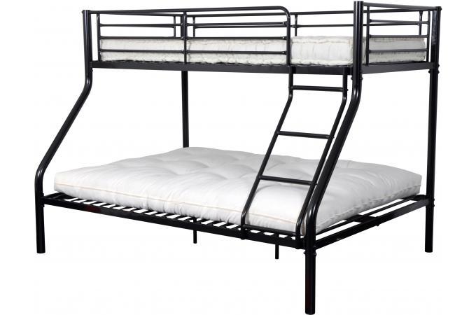 lits superpos snoir 90x190 et 140x190 leonie lit design pas cher. Black Bedroom Furniture Sets. Home Design Ideas