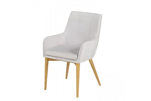 Lot 2 Fauteuils Velours Blanc VELVETY