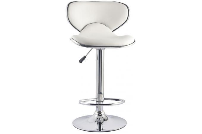 Lot de 2 chaises de bar blanches cobra tabouret de bar - Lot de 2 tabouret de bar pas cher ...