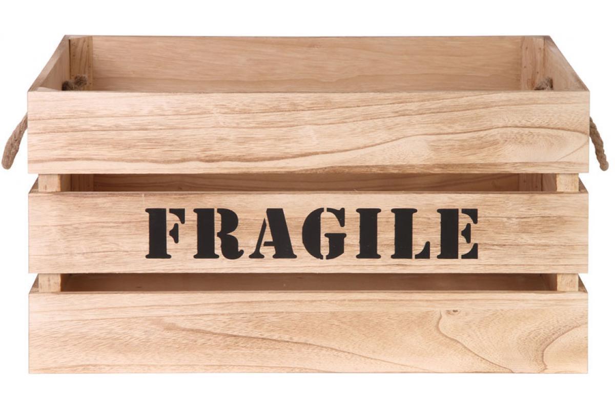 Meuble A Chaussure En Cagette lot de 2 cagettes de rangement en bois beige fragile plus d'infos