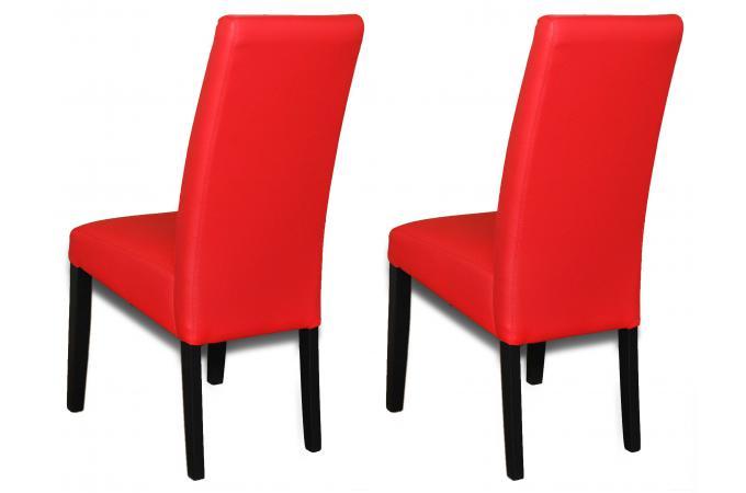 lot de 2 chaises rouges adria chaise design pas cher. Black Bedroom Furniture Sets. Home Design Ideas